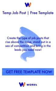 Temp Job Post Template Button