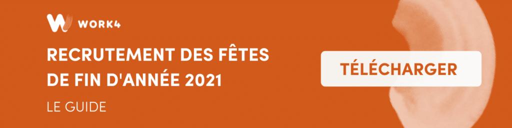 recrutement des fêtes de fin d'année 2021